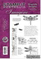 Набор резиновых штампов от Crafter's Companion - Dragonfly Delights, 10 шт.