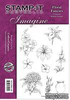 Набор резиновых штампов от Crafter's Companion - Floral Fancies, 9 шт.