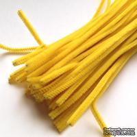 Синельная проволока, цвет ярко-желтый, 30 см, 1 штука