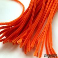 Синельная проволока, цвет оранжевый, 30 см, 1 штука