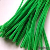 Синельная проволока, цвет ярко-зеленый, 30 см, 1 штука
