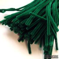 Синельная проволока, цвет темно-зеленый, 30 см, 1 штука