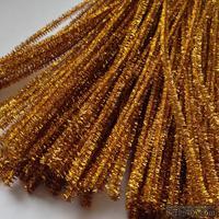 Синельная проволока, цвет люрекс золото, 30 см, 1 штука