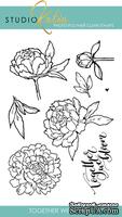 Набор штампов от Studio Katia - Together We Bloom, 8 шт., арт STKS018