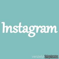 """Чипборд от Вензелик - С надписью """"Instagram"""", размер: 28x105 мм"""