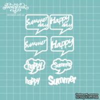 Чипборд от Вензелик - Набор слов Summer, размер: 3,2-3,5см