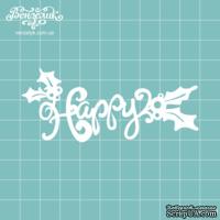 Чипборд от Вензелик - Happy 02, размер: 88x37 мм