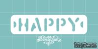 Чипборд от Вензелик - Happy 03, размер: 62x15 мм