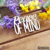 Чипборд от Вензелик - Peace of mind, размер: 64x45 мм