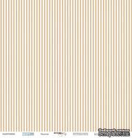 Лист односторонней бумаги от Scrapmir - Полоски - Море, 30x30 см