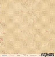 Лист односторонней бумаги от Scrapmir - Горошек - Карамель, 30x30см