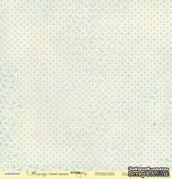 Лист односторонней бумаги от Scrapmir - Синий горошек - Корица, 30x30см
