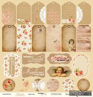 Лист односторонней бумаги от Scrapmir -Карточки из коллекции Любовь, 30x30см, 1 шт.