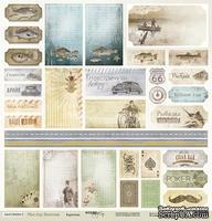 Лист односторонней бумаги c карточкаи от Scrapmir из коллекции  Мистер Винтаж, 30x30 см