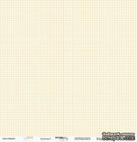 Лист односторонней бумаги от Scrapmir - Клеточка - Baby Boy, 30х30 см