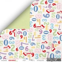 Лист двусторонней бумаги от Scrapmir - Цифры из коллекции Birthday Party , 30x30 см