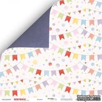 Лист двусторонней бумаги от Scrapmir - Флажки из коллекции - Birthday Party, 30x30 см