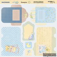 Лист двусторонней бумаги от Scrapmir - Конверты - Little Bear, 20х20см