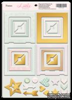 Рамки из чипборда с фольгированием (золото) для скрапбукинга от Scrapmir - Little Bunny, 30 шт.