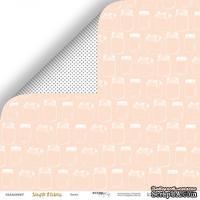 Лист двусторонней бумаги от Scrapmir - Банки из коллекции Simple Flowers, 30x30 см