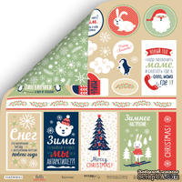 Лист двусторонней бумаги от Scrapmir - Карточки - Hello Christmas, 30x30см