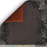 "Лист двусторонней бумаги от Scrapmir - ""Темнота"" из коллекции Time to Dream,  30x30 см"