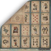 Лист двусторонней бумаги от Scrapmir - Игральные карты из коллекции Time to Dream, 30x30 см