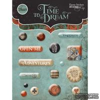 СНЯТО С пр-ва Набор эпоксидных наклеек от Scrapmir - Time to Dream, 16 шт.