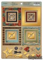 Рамки из чипборда с фольгированием (золото) для скрапбукинга от Scrapmir - Time to Dream, 30 шт.