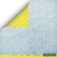 """Лист двусторонней бумаги  от Scrapmir - """"Поездка"""" из коллекции Let's Travel, 30x30 см"""