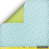 """Лист двусторонней бумаги от Scrapmir - """"Небо"""" из коллекции Let's Travel, 30x30 см"""