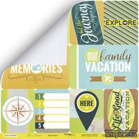 """Лист двусторонней бумаги от Scrapmir - """"Карточки 1 (eng)"""" из коллекции Let's Travel, 30x30 см"""