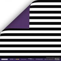 Лист двусторонней бумаги от Scrapmir - Тёмные Линии - Ticket to the Moon, 30x30см