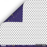 Лист двусторонней бумаги 30x30см от Scrapmir - Звёзды - Ticket to the Moon