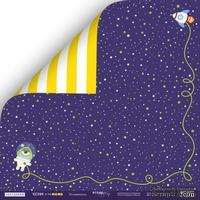 Лист двусторонней бумаги от Scrapmir - Исследователь - Ticket to the Moon, 30x30см