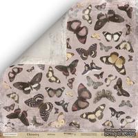 Лист двусторонней бумаги от Scrapmir - Бабочки - Charming (Очарование), 30x30 см