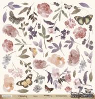 """Лист односторонней бумаги для вырезания от Scrapmir - """"Цветы"""" из коллекции Charming (Очарование), 30x30см"""