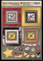Рамки из чипборда с фольгированием (золото) для скрапбукинга от Scrapmir - Charming (Очарование), 30 шт.