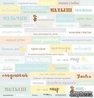 Лист односторонней бумаги от Scrapmir - Надписи (RU) - Smile Baby, 30x30 см