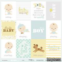 Лист односторонней бумаги от Scrapmir - Карточки (ENG) - Smile Baby, 30x30 см