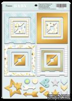 Рамки из чипборда с фольгированием (золото) для скрапбукинга от Scrapmir - Smile Baby, 30 шт.
