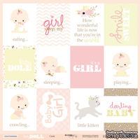 Лист односторонней бумаги от Scrapmir - Карточки (ENG) - Doll Baby, 30x30 см