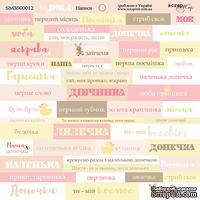 Лист односторонней бумаги от Scrapmir - Надписи (UKR) - Doll Baby, 20х20см