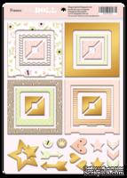 Рамки из чипборда с фольгированием (золото) для скрапбукинга от Scrapmir - Baby Doll, 30 шт.