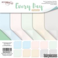 Набор двусторонней бумаги от Scrapmir  - Every Day (Pastel), 10 листов, 30х30см  - ScrapUA.com