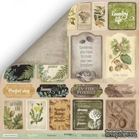 Лист односторонней бумаги для скрапбукинга  от Scrapmir - Карточки (ENG) - Cozy Forest, 30х30