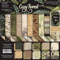 Набор двусторонней бумаги от Scrapmir - Cozy Forest,  30х30см, 10 шт - ScrapUA.com