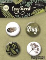 Набор скрап-фишек для скрапбукинга от Scrapmir - Cozy Forest, 4 шт.