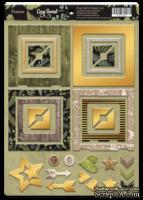 Рамки из чипборда с фольгированием (золото) для скрапбукинга от Scrapmir - Cozy Forest, 30 шт.