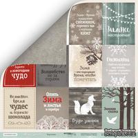 Лист односторонней бумаги для скрапбукинга  от Scrapmir - Карточки (RU) - Nordic Spirits, 30х30